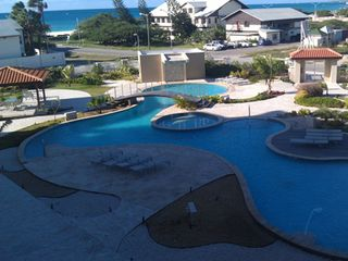 Aruba condo photo - Amazing view of pool and Eagle Beach from Master Bedroom.