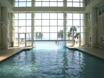 Only a few destin resorts have an indoor pool. Swim through to outside pool.