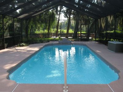 29' x 46' Screened Pool Area, with Fiber Optics and 29' x 12' Furnished Lanai