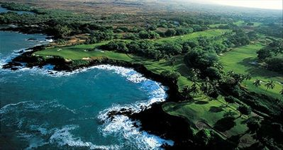 Championship golf at Mauna Kea