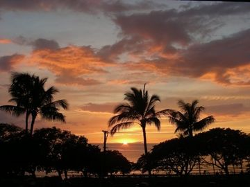 A sunset photographed from our lanai
