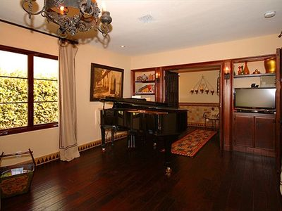 Piano room and bath can also serve as a third bedroom with sleeper sofa and bath