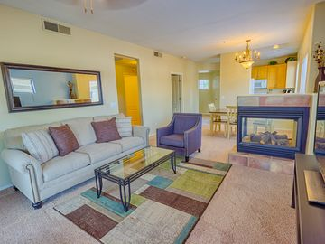 Downtown Scottsdale condo rental - Pull-out sofa features an upgraded memory foam mattress.