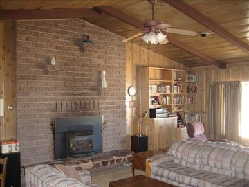Spacious Living Room w/ Gas Fireplace