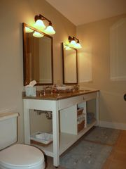 Santa Rosa Beach condo photo - Large bathrooms with double vanity sink and granite countertops.