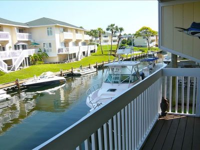 Bring your boat! Docking permits available through Sandpiper Cove condo assn.