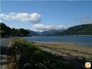 Isle of Bute & Cowal Peninsula cabin rental - The view from the entrance to the holiday park