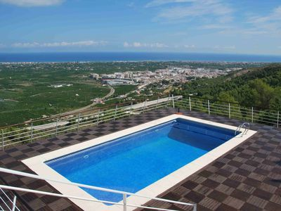 Beautiful house with spectacular views over the sea, private pool and wi fi
