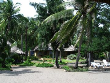 View from the beach side towards the main house.