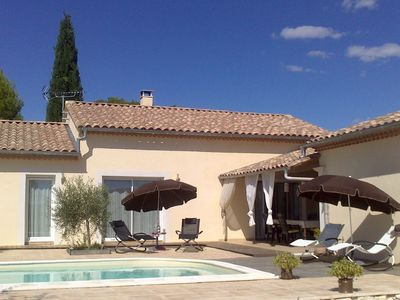 Comfortable villa (with studio), situated on the edge of the beautiful Uzès