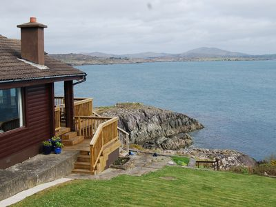 Smell the tang of the sea from our Log Cabin property