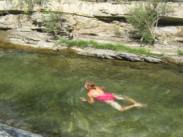 rock pools in summer