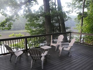 Swanton house photo - Relax on our private 20' x 16' deck, just above the dock slip.