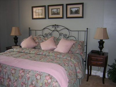 Beautiful Master suite with King Bed and Armoire