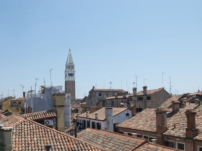One of your views from a skylight toward the San Marco Campanile