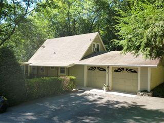 Lake Toxaway cottage photo - House from Driveway Pls note house does have central A/C