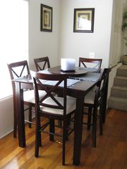 Expandable dining table - Pacific Beach townhome vacation rental photo