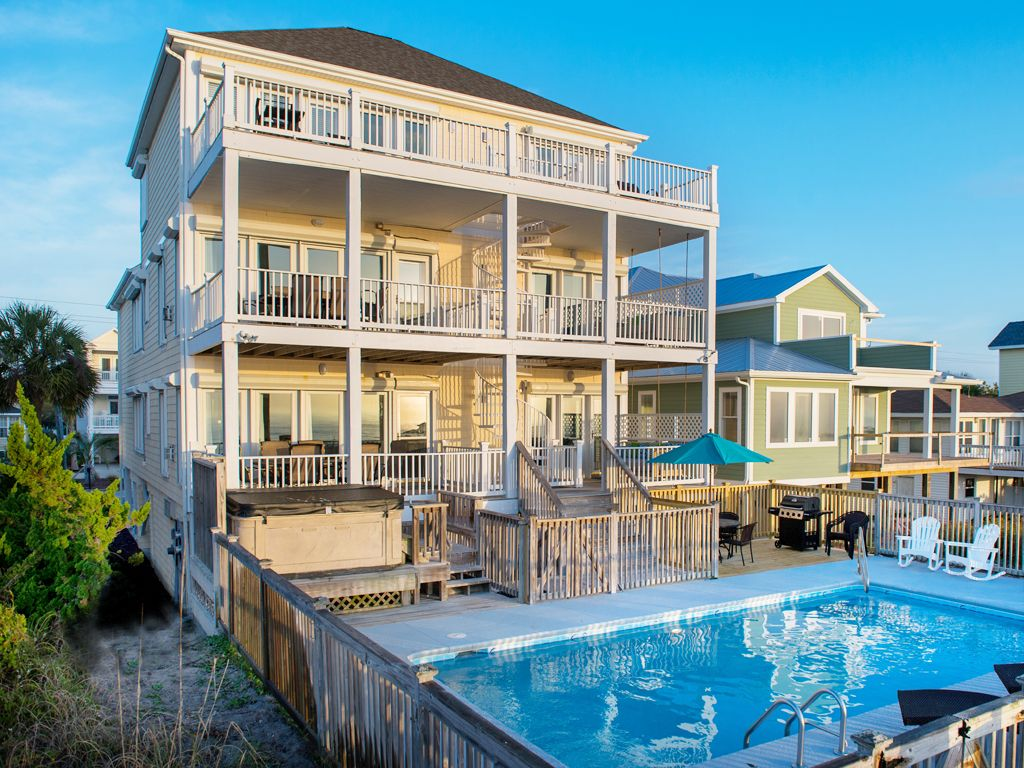 Oceanfront 9 Bdrms Pool Hot Tub Wedding HomeAway Carolina Beach
