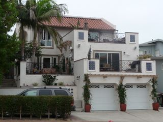 San Clemente condo photo - Street view with guest parking shown. Unit is the top level.