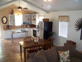 South Padre Island house photo - upstairs living and kitchen