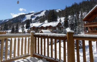 View of Winter Park ski Slopes from the spacious deck