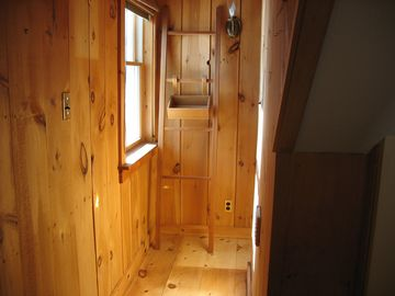 Entry to the sauna
