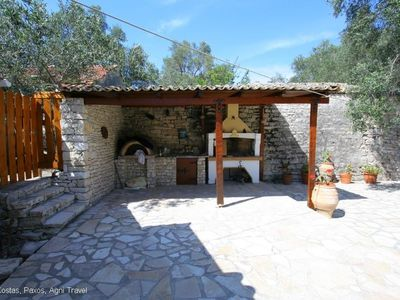 Paxi (Paxos) villa rental - Large BBQ and Outside Kitchen