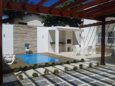 Beautiful house with pool in the sea qd in Jacaraípe