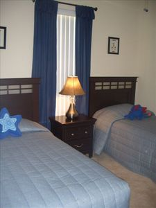 "Twin Bedroom with 20"" LCD TV/Cable/DVD PS2, games, toys, perfect for little ones"