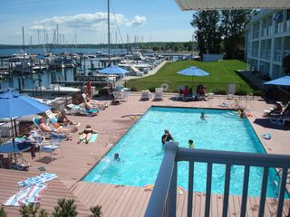 Charlevoix condo photo - Foster Boat Works Condo Waterfront View