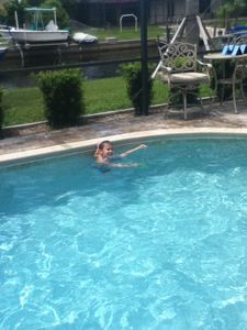 My son enjoying the pool!!
