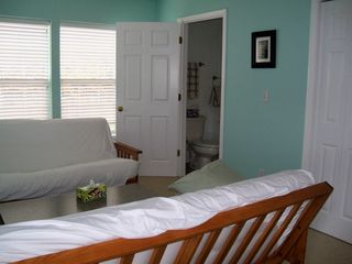 Pentwater cottage photo - Loft with two futons. Shared bathroom with master bedroom