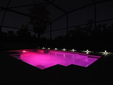 Multi-coloured LED pool light