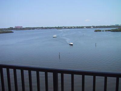 Siesta Key condo rental - Always something to watch from the balcony.