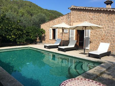 Gorgeous 2 Bed Cottage with Pool, Lemon Grove and Mountain Views In Sóller.