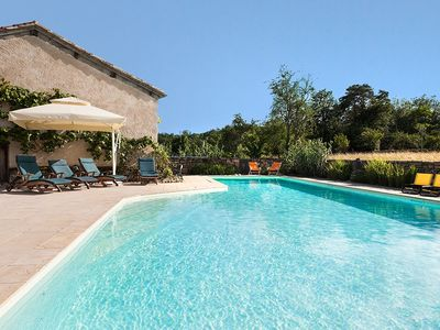 Verfeil cottage rental - Huge 16 x 7 m heated swimming pool with views