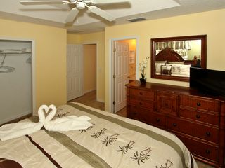 Paradise Cay townhome photo - Master Suite+TV