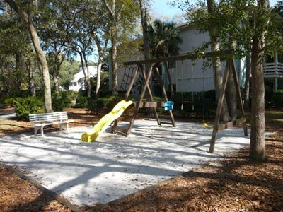 Several Playgrounds throughout Fiddler's Cove .