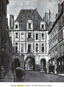 Rue de Birague, in the 1800s