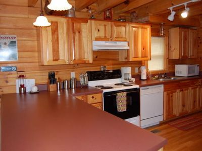Lake Lure cabin rental - kitchen