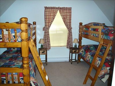 "Bedroom 4 - Bunk Beds (sleeps 4), 20"" TV, PS2, baord games - 2nd Floor"