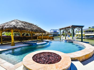 Livin' the Dream - 6 bedroom home with private pool on the water! Sleeps 17!