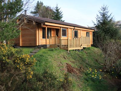 Beautiful Log Cabin in a Stunning Location with Mountain and Loch Views