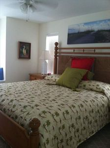 Master Bedroom features king size bed, walk-in closet and a private bathroom.