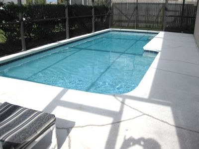 Plenty of sun for the pool - fully screened - heat available if needed.