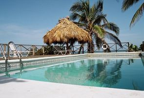 Rainbow Point's sparkling, freshwater pool overlooks the Caribbean