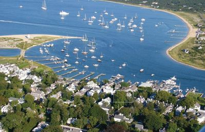 Edgartown harbor and the house.