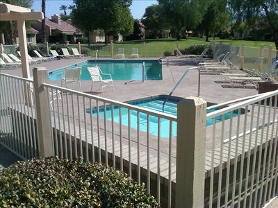 Only 50 giant paces from the front door of the unit to the heated pool.