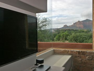 Red rock view from living room