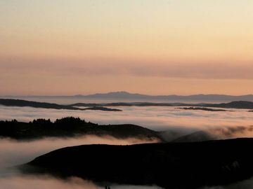 Carmel Highlands house rental - Above the fog sunsets, never get tired of seeing this